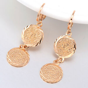 Details about Dangle Small Drop Hoop Earrings Earings Girl Fashion Korean  Jewelry Gold Filled