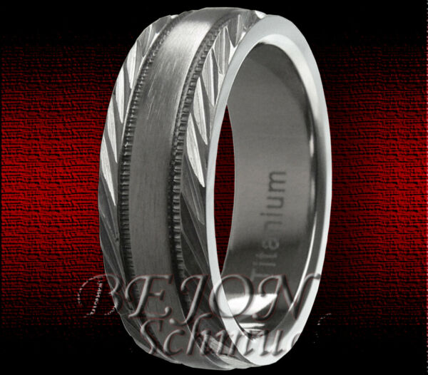*neu* Titan Ring *7mm Breit* GebÜrstet *tr-03-b*