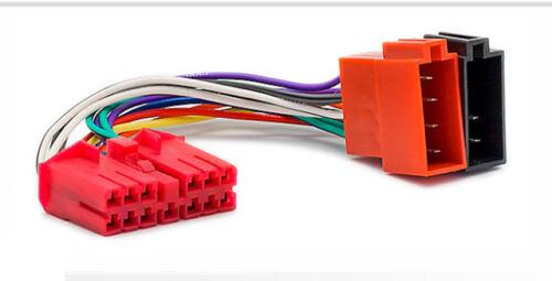 Carav 12-137 autoradio cable del adaptador ISO para daewoo nexia espero