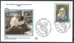 1986 Vaticano Viaggi Del Papa Perugia - Sv