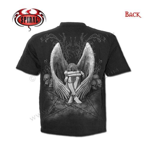 SPIRAL DIRECT ENSLAVED ANGEL T Shirt,Biker//Tattoo//Angel//Goth//Pentagram//Dark wear