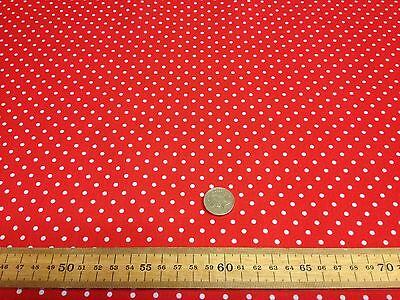 Small Bright Polka Dots Spots Polycotton Fabric poly cotton craft fabric