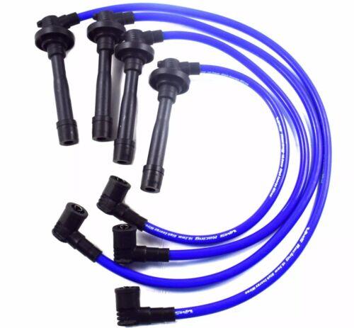 BLUE RACING SPARK PLUG WIRES 10.2MM 1997-2002 HONDA PRELUDE H22 VTEC ENGINE