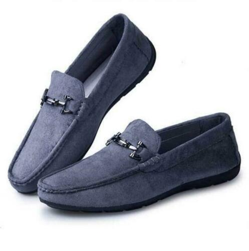 2875bbbd6 Grey Mens Slip On Loafers Driving Flats Business Faux Suede Leather Casual  Shoes size Kqd2Bxh3FOc5BHb9 [Kqd2Bxh3FOc5BHb9] - £72.59 : Standard (B) Men  ...