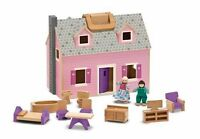 Melissa And Doug Fold And Go Mini Dollhouse , New, Free Shipping