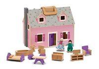 Melissa And Doug Fold And Go Mini Dollhouse , New, Free Shipping