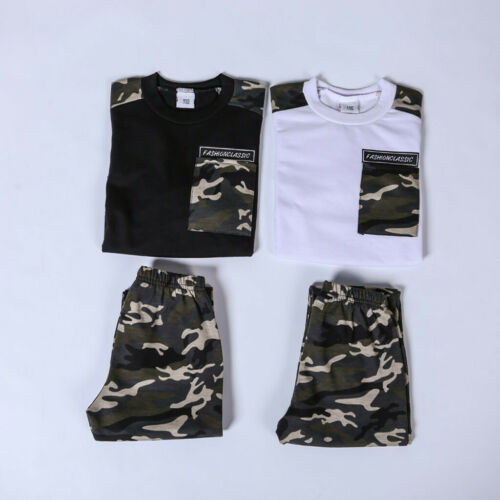 Teen Kids Baby Boys Letter Tracksuit Camouflage Tops Pants 2PCS Outfits Set