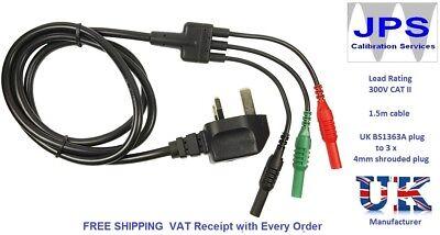Megger UK Mains Replacement Test Lead Plug Set  MFT 1553 MFT1553 JPSS003h