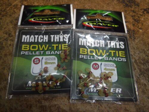 MAVER BOW tie pellet bands  SET//2 SMALL//MEDIUM