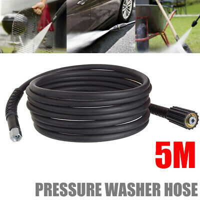 5m Replacement 5800PSI High Pressure Washer Hose Heavy Duty M22 M14 Jet Power
