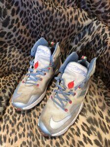 c5166cbcc19 Nike LeBron XIII XMAS Boys Basket Ball Shoes Summit White Light ...