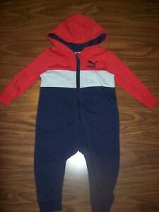 84d869d9d246 Baby Boys PUMA One-Piece Outfit Size 12 Months New NWT MSRP  38 RED ...