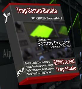 Trap SERUM Synth Presets - LOGIC PRO ABLETON FL STUDIO CUBASE REASON
