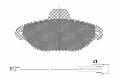 LANCIA Front Brake Pads for FIAT FORD