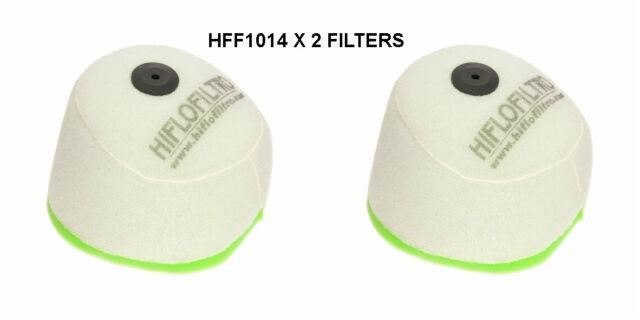 HONDA CR125R / CR250R HIFLOFILTRO AIR FILTER FITS YEARS 2002 TO 2007 HFF1014  X2