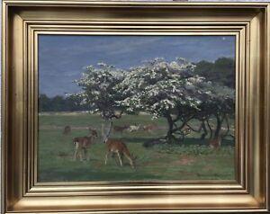 Knud-Reinholdt-Nielsen-1891-1984-Tree-Blossom-in-the-Wildlife-Park-dyrehavn-55-x-69-cm