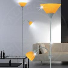 MIA A1762N Decken ↥1800mm/ Retro/ Orange/ Glas/ Alu/ Steh Deckenfluter Standlamp