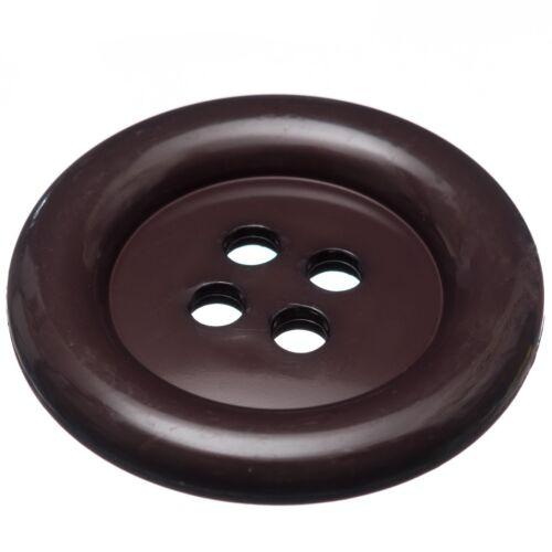 "2/"" Plastic Clown Buttons.10 vibrant colours Fancy Dress or Craft 3 x Big 51mm"