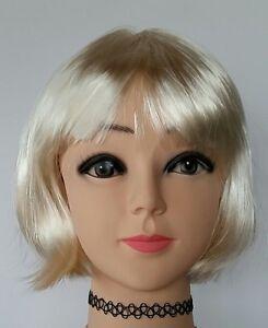 Parrucca donna corta caschetto capelli sintetici vari ...