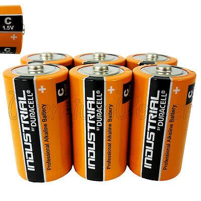 6 Duracell C Size Batteries Industrial Procell Alkaline Lr14