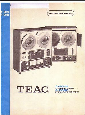 Teac Bedienungsanleitung User Manual Owners Manual Für A 2080 Copy 2070