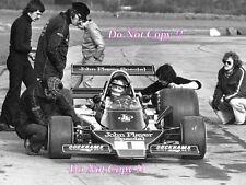 RONNIE PETERSON LOTUS JPS 76 F1 test GOODWOOD 1974 fotografia 2