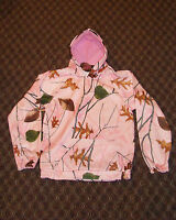 Pink Camo Hoodie Hooded Pullover Women's Pink Camoflauge Sweatshirt L