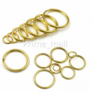 10-35 мм твердый латунный разделительные кольца двойные петли брелок обруч брелок ремесло фурнитура