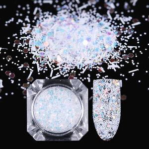 1.7g BORN PRETTY Hexagon Nail Glitzer Pulver Sequins Stripe Flakies Nagel Puder