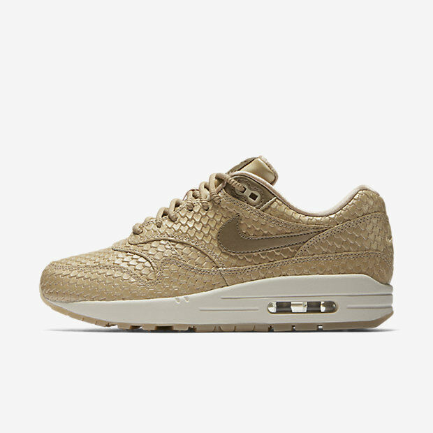 New Nike femmes Air Max 1 Chaussures (454746-900) Blur/Light Orewood Brown/Summit Wh