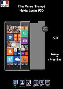 Film Vitre 9H Protection Ecran Verre Trempé Nokia Lumia 930 + Lingettes