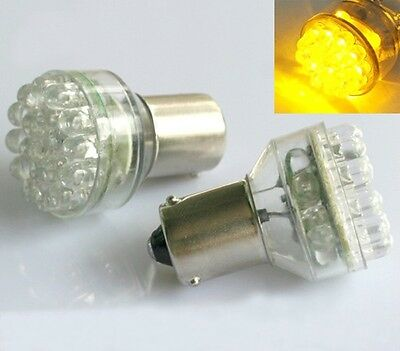4x BAU15S 1156 120° 24 LED AMBER TURN SIGNAL Light Lamp offset PY21W 581 12V