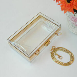 Women-Evening-Acrylic-Perspex-Transparent-Clear-Clutch-Box-Purse-Banquet-Handbag