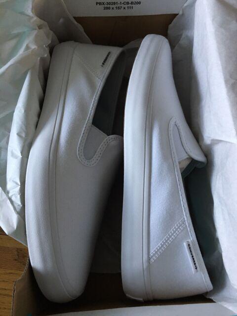 100 Genuine Converse White Canvas Slip