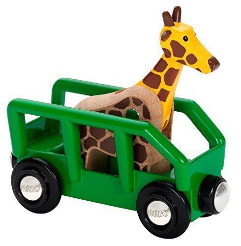 Ravensburger BRIO World - Safari Giraffe & Wagon