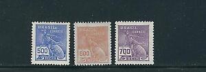 BRAZIL 1922-29 MERCURY (Sc 254-56) F/VF MLH/MNH