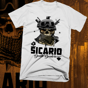 Sicario-Narco-Hitman-T-shirt-El-Chapo-Mexican-Cartel-Pablo-Escobar-Medellin-tee