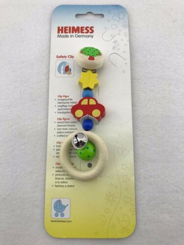NEW Heimess Pram Mobile Wooden Stroller Clip Toy Handcrafted *FREE AU SHIPPING!*