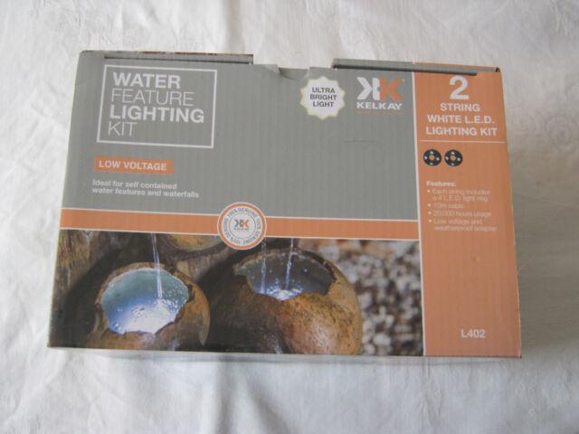 Kelkay Water Feature Lighting Kit 2 String White Led