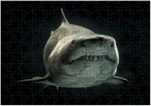 Can Be Personalised Great White Shark A4 JIGSAW Puzzle Birthday Christmas Gift