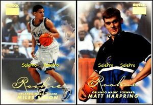 2x-SKYBOX-PREMIUM-1998-MILES-SIMON-228-RC-MATT-HARPRING-244-MAGIC-ROOKIE-LOT