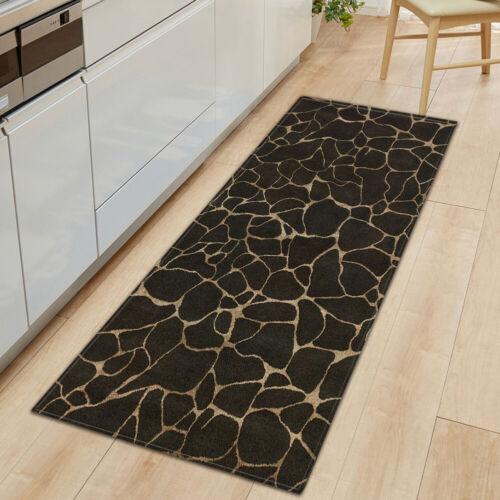 Floor Mat Kitchen Marbling Rectangle Rug Door Runner Carpet Hall Non-Slip