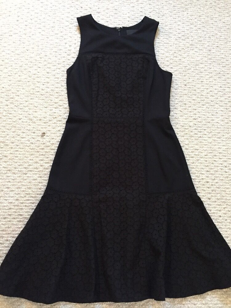J Crew New Collection Tall Paneled Eyelet Dress schwarz Größe 4 Sold Out  A7518