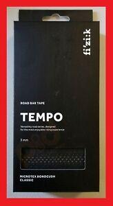 Fizik-Tempo-Microtex-Bondcush-Performance-Handlebar-Bar-Tape-BLACK-3mm-BRAND-NEW