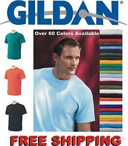 100 Gildan T-SHIRTS BLANK BULK LOT Colors or 112 White Plain S-XL.. Wholesale 50