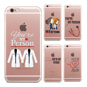 half off 27ef1 9813e Details about You're my person Grey's Anatomy quote inspired TPU Silicon  iPhone Case