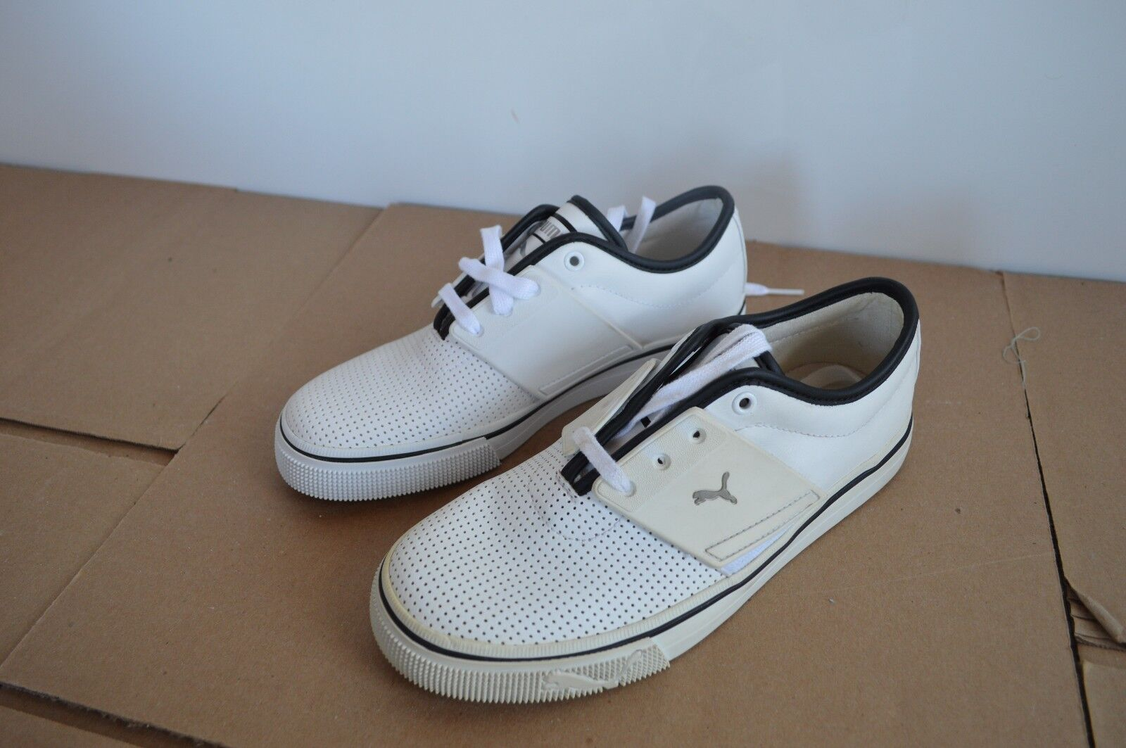 Puma Mens El Ace White Leather Shoes Display Models Great discount