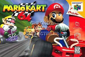 Rgc Huge Poster Mario Kart 64 Nintendo 64 N64 Box Art N64027 Ebay