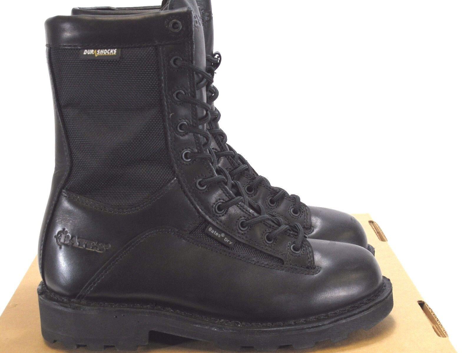 nuevo  BATES para hombre 3135 DURASHOCK Gore-Tex Bota Negro cuero nailon tamaño 6 M