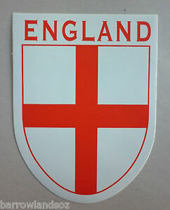 ENGLAND-St-George-Cross-Shield-Car-Sticker-Decal-Gift-or-Souvenir